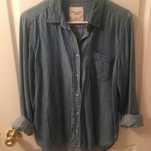 American Eagle Jean Chambray Shirt